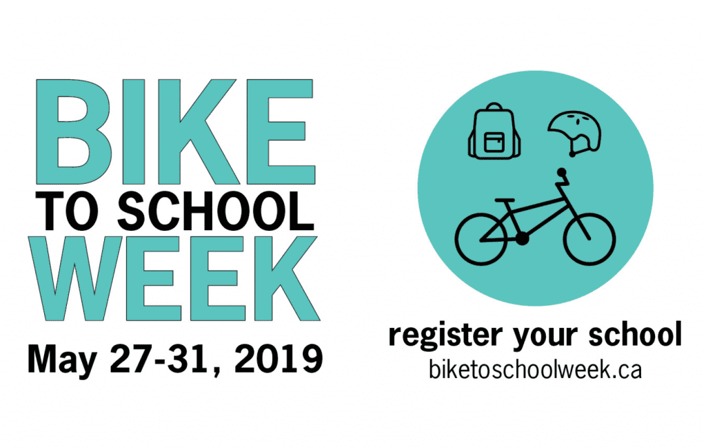 Bike to School Week 2019 is May 27-31!