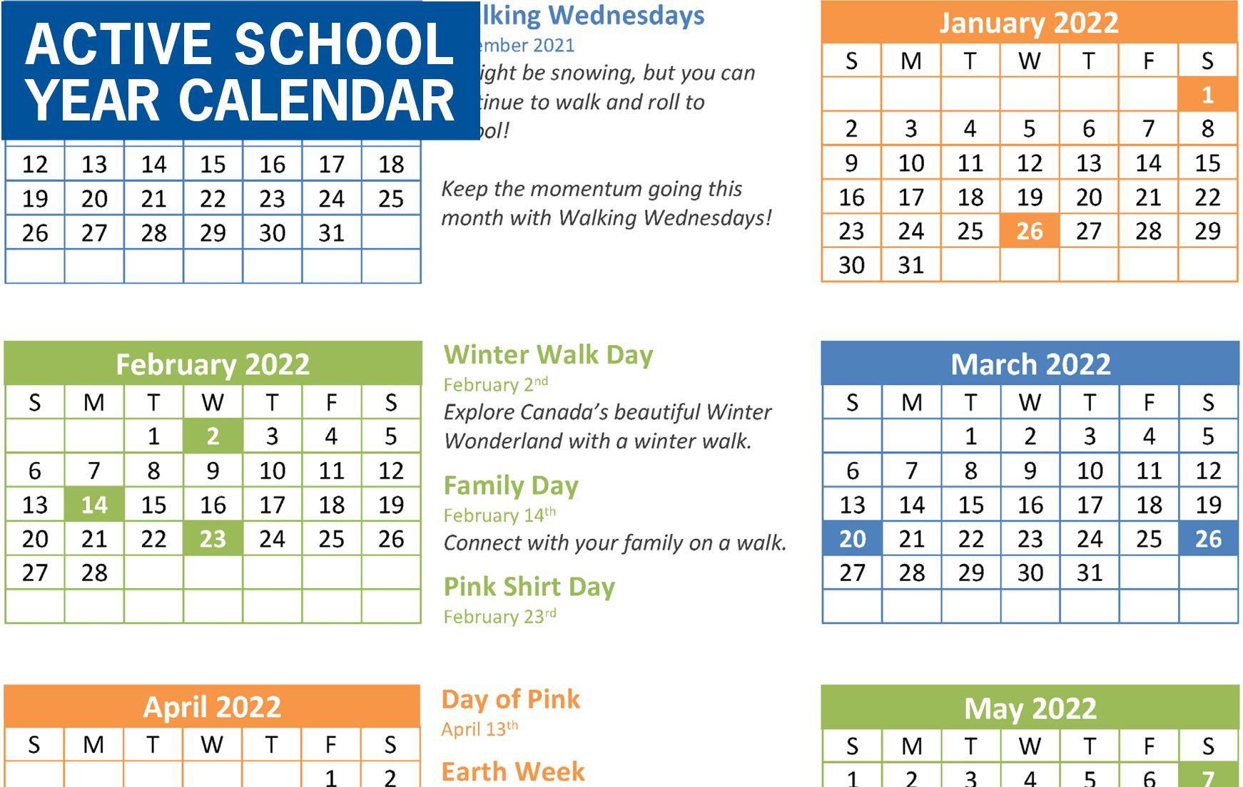 Check out our 2021-22 Walk & Roll Events Calendar!
