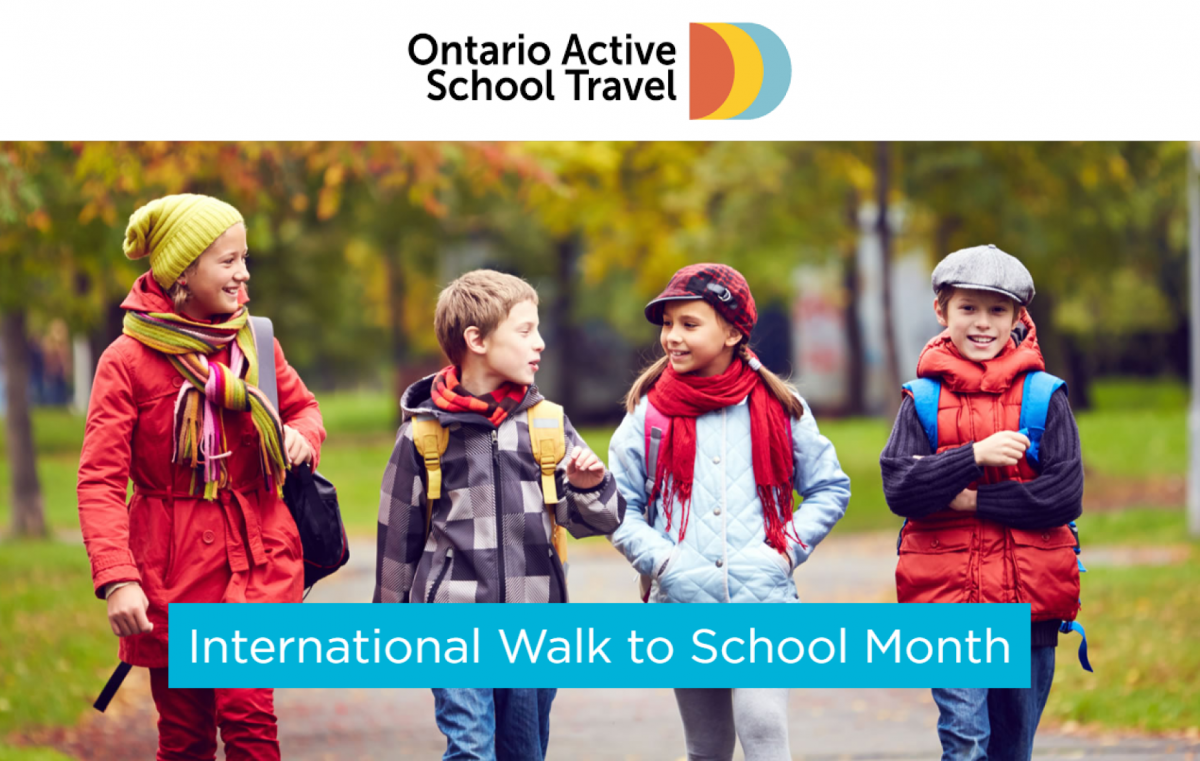 October is International Walk to School Month!